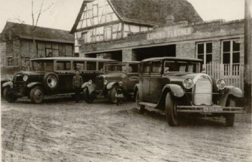 Les autocars Edmond Flecher dans les années 1930.