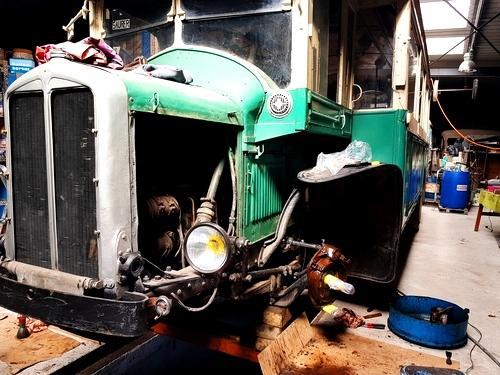 Le bus parisien sur cales