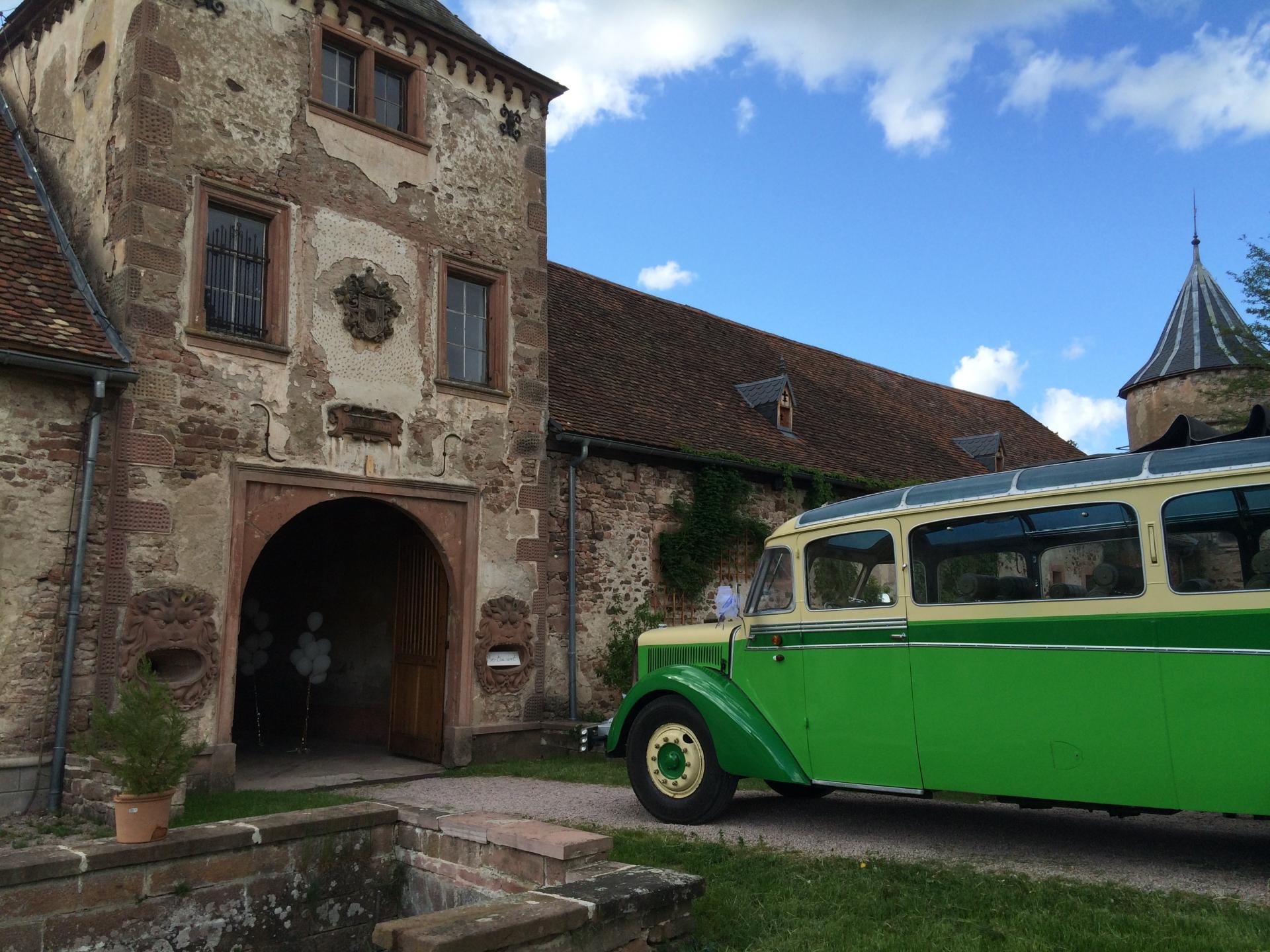 L'arrivée au Château de Thanvillé