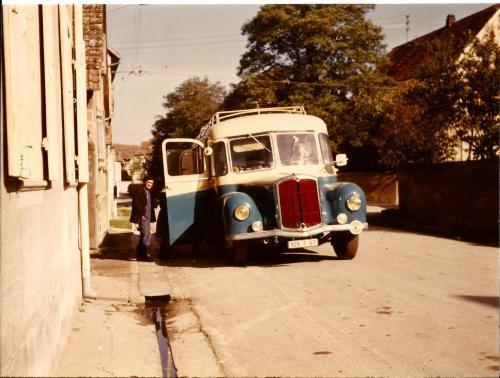 La dernière sortie du vieux saurer, se sera pour les vendanges en octobre 1969.